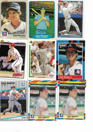 (9) Dale Murphy Baseball Cards