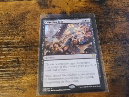 Magic the gathering mtg Crippling Fear rare card