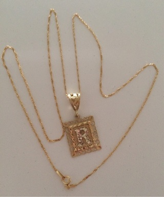 14k Necklace & 10k R Pendant Real Gold!