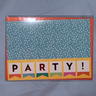 Brand new Glitter Party Greeting Card with Matching Envelope.