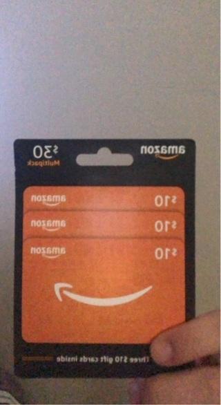 6 $10 Amazon gift cards