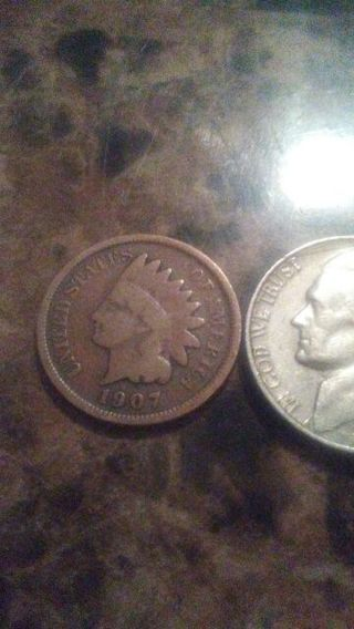 1907 indian head penny 1964 nickel