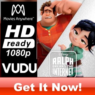 RALPH BREAKS THE INTERNET HD MOVIES ANYWHERE OR VUDU CODE ONLY
