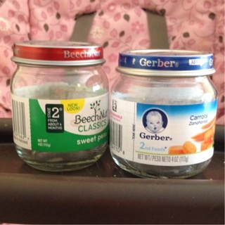 Empty Baby Food Jars For Crafting Or Storage