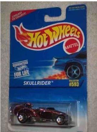 #593 Skullrider 97 Card Hot Wheels Tampo Collectible Collector Car Mattel Hot Wheels 1:64 Scale