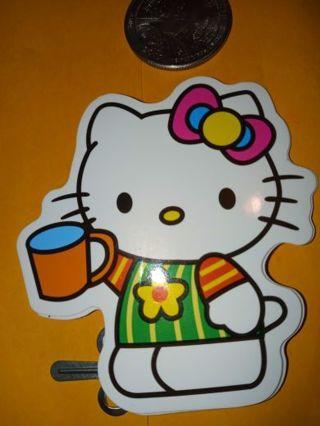 Hello kitty big Cute vinyl sticker no refunds regular mail only Very nice