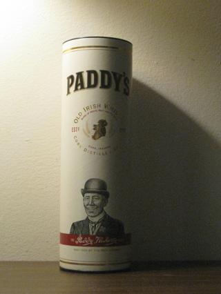 Paddys Irish Whiskey Cannister