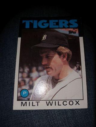 Baseball Card - Milt Wilcox 1986