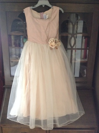 lovely princess flower girl dress girl size 7 / 8 - costume