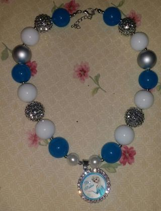 Frozen chunky beaded necklace