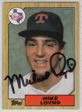 1987 Topps Mike Loynd autograph RC