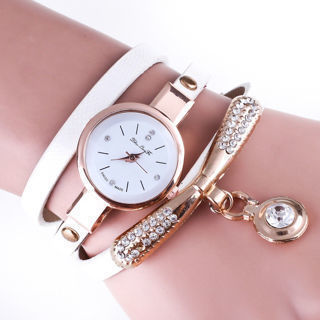 Fashion Women Ladies Girl Watch Quartz Analog Crystal Bracelet Dress Wrist Watch