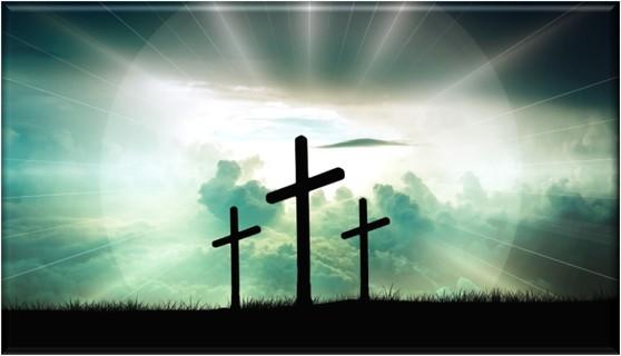 Christian - Three Crosses - Refrigerator Magnet [Green]