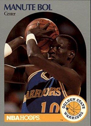 1990 nba hoops manute bol warriors #112
