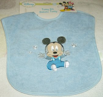 *DISNEY* Baby Mickey Mouse Terrycloth Bib  *NWT*