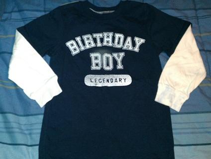 5T Carters Birthday Boy Shirt