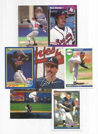Free David Justice Rookie Atlanta Braves Baseball Card Lot