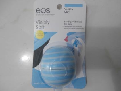 EOS Visibly Soft Vanilla Mint Lip Balm, 0.25 oz