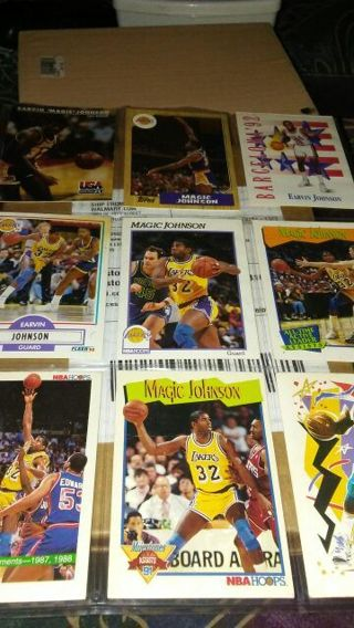Random Magic Johnson basketball cards