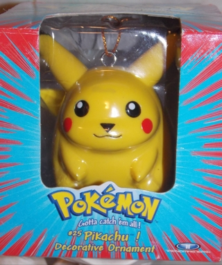Pikachu Christmas Ornament.Free Pokemon Pikachu 1999 Decorative Christmas Ornament