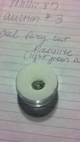 prasionite (light green amethyst)
