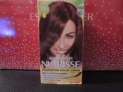 Garnier Nutrisse Dark Reddish Brown Chocolate Cherry Permanent Hair Color Dye Gorgeous Shade