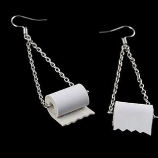 Toilet paper drop earrings Funny ! New free ship