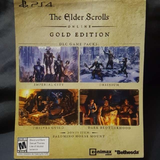 Elder Scrolls online Gold Edition PS4 DLC