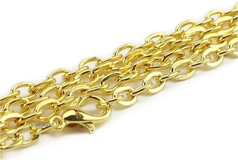 1pc 24 inch GP Flat Oval Link Cable Chain Necklace Lot G11 (PLEASE READ DESCRIPTION)