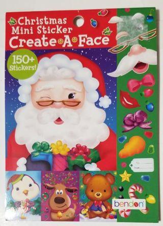 Christmas Mini Sticker Create A Face Pad