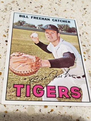 1967 Bill Freehan Detroit tigers vintage baseball card