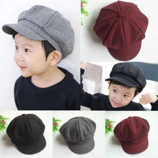 Hot Baby Kids Toddler Infant Dome Beret Cap Headwear Levert Dropship Octagonal Hat Beret Cap Lever
