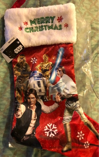"""BNWT Disney's """"STAR WARS"""": Extra Large Hanging Christmas Stocking 16"""" Long and 7"""" Wide"""