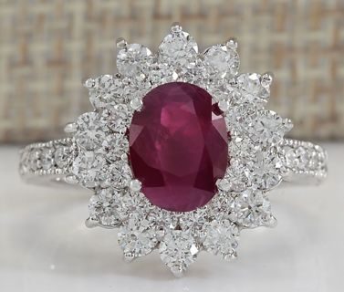 ☘️ Gorgeous ☘️ 925 Silver Ruby Gemstone Engagement Wedding Ring Sz 6-10