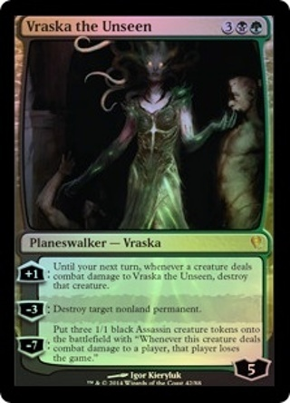 MTG,Mythic Rare Foil Planeswalker,Vraska the Unseen ,Magic The Gathering Card