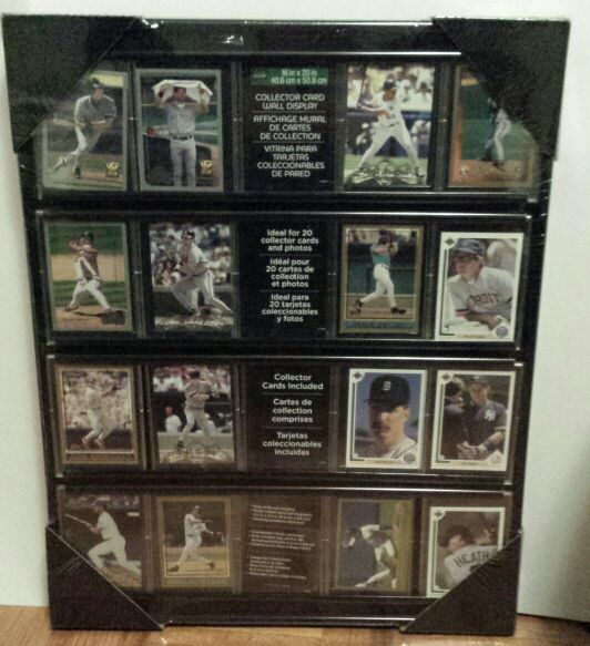 Free: Collector Card Wall Display Case Frame Mount for Hockey ...