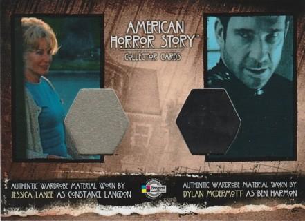 American Horror Story ~ JESSICA LANGE / DYLAN McDERMOTT Dual Costume Swatch SSP