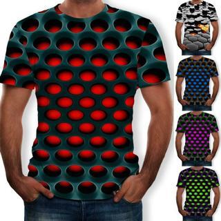 Men Womens 3D Print Summer Short Sleeve-Casual T-Shirt Graphic Tee Tops
