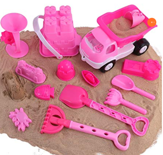Liberty Imports Pink Princess Beach Wagon Toy Set