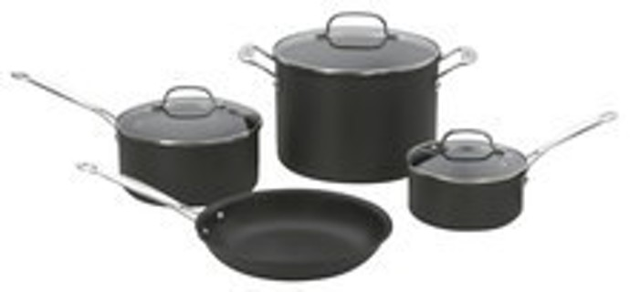 Cuisinart - Chef's Classic 7-Piece Cookware Set - Black