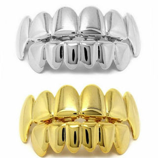 2020 Hip Hop Teeth Top Bottom Grill Mouth Teeth Grills Gangster x1