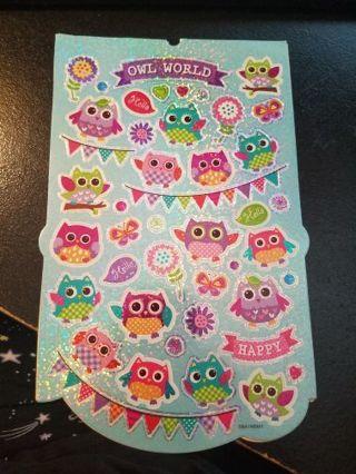 Shiney Owl Stickers # 1