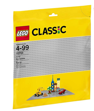 ⭐️⭐️⭐️⭐️LEGO Classic Gray Baseplate  Building Toy compatible w/ Building Bricks