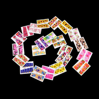 50 PCs Decal Water Transfer Manicure Nail Art Stickers DIY Tips
