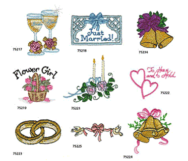 Wedding Embroidery Designs Hus And Pes Formats