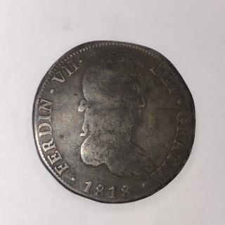 Bolivia 1818 PJ 8 Reales KM# 84