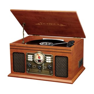 6-In-1 Turntable with Bluetooth Victrola VTA-200B Nostalgic Classic , Mahogany