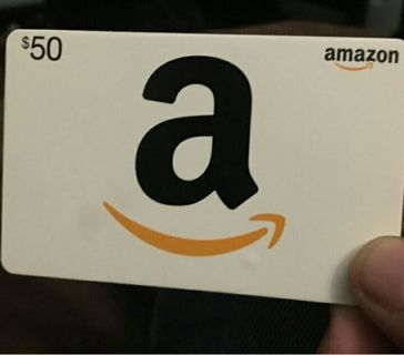 $50 amazon gift card unused with receipt