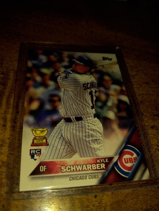 Kyle schwarber Topps rookie Chicago Cubs