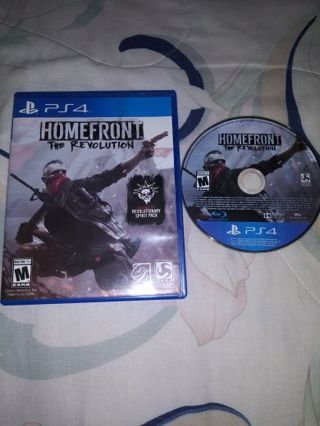PS4 HOMEFRONT THE REVOLUTION...FREE SHIPPING WITH TRACKING...VERY GOOD CONDITION...
